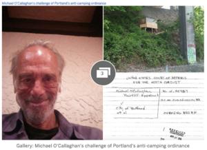 Michael O'Callaghan & his challenge to Portland camping ban